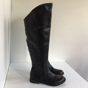 Aldo Women EU 38 Black Leather High Boots